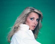 Heather Thomas as Jody Banks in white jacket The Fall Guy TV series 8x10 photo