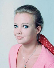 Hayley Mills 1966 studio portrait in pink sweater smiling 8x10 photo