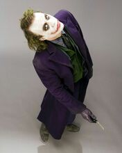 Heath Ledger full length scary pose as The Joker The Dark Knight 8x10 photo