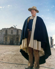 John Wayne full length wearing Texian cape in front of The Alamo 8x10 photo