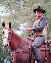John Wayne on horseback as Rooster Cogburn in True Grit 8x10 photo