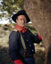 John Wayne wears Union Cavalry uniform and hat The Horse Soldiers 8x10 photo