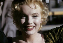 Marilyn Monroe smiling head and shoulders portrait Bus Stop 8x10 photo