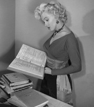 Marilyn Monroe rare on set pose looking at movie script 8x10 photo