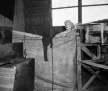 Marilyn Monroe River of No Return changing behind makeshift curtain 8x10 photo