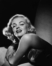 Marilyn Monroe classic Hollywood glamour pose smiling bare shoulder 8x10 photo