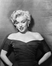 Marilyn Monroe classic 1950's glamour portrait dressed pulled off shoulders 8x10