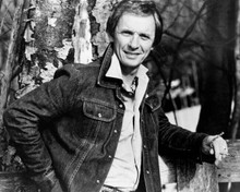 Mel Tillis outlaw country star 8x10 photo smiling pose in denim jacket