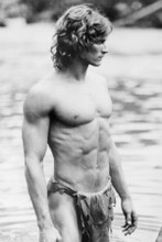 Miles O'Keefe in loincloth as Tarzan 8x10 photo