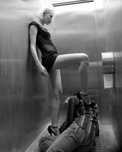 RIE RASMUSSEN LEGGY B&W 8X10 PHOTOGRAPH