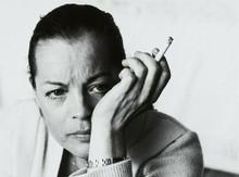 Romy Schneider intense portrait holding cigarette 8x10 photo