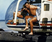 Sean Connery exits helicopter bare chest in swimsuit Thunderball 8x10 photo