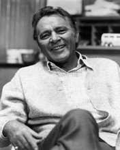 Richard Burton smiling seated portrait wearing cardigan mid 1960's 8x10 photo