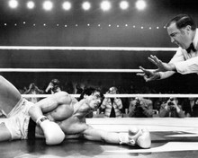 Rocky III Sylvester Stallone down for the count 8x10 photo