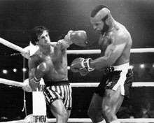 Rocky III Sylvester Stallone punches Mr T 8x10 photo