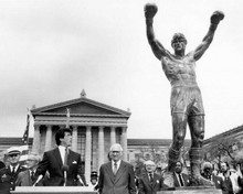 Rocky III Sylvester Stallone by Philadelphia Rocky statue 8x10 photo