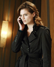 Stana Katic In Black Trench Coat 8x10 Photo (20x25 cm approx)