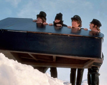 THE BEATLES HELP! JOHN PAUL RINGO & GEORGE PIANO IN THE SNOW 8X10 PHOTO