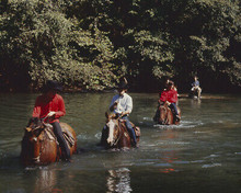 THE BEATLES RIDING ON HORSEBACK IN RIVER JOHN PAUL GEORGE RINGO 8X10 PHOTO