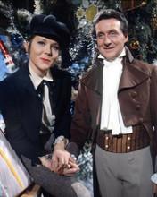 The Avengers TV Diana Rigg Patrick Macnee pose by Christmas tree 8x10 photo