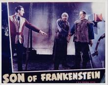 Son of Frankenstein Basil Rathbone Bela Lugosi Boris Karloff 8x10 photo