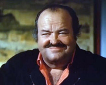 William Conrad smiling portrait in orange shirt & blue jacket Cannon TV 8x10