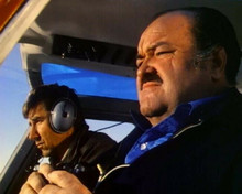 William Conrad as detective Frank Cannon flying in helicopter 8x10 photo