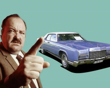 William Conrad as Frank Cannon with his Lincoln Continental car 8x10 photo
