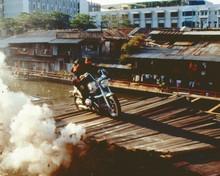 Tomorrow Never Dies Pierce Brosnan Michelle Yeoh on BMW R1200CC Bike 8x10 photo