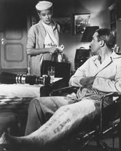 Vertigo James Stewart in chair with signed leg in plaster Doris Day 8x10 photo