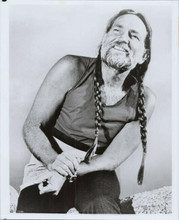 Willie Nelson smiling pose in sleeveless t-shirt 8x10 photo circa 1970's