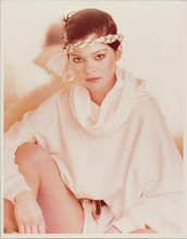 Valerie Bertinelli 1970's leggy pose in white outfit with headband 8x10 photo