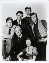 The Virginian TV series Lee J Cobb James Drury Doug McClure & cast 8x10 photo