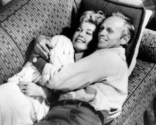 The Tunnel of Love 8x10 photo Richard Widmark Doris Day cuddle on sofa