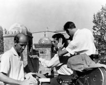 Three Worlds of Gulliver Ray Harryhausen on set with Kerwin Matthews 8x10 photo