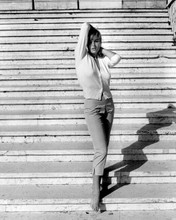 Ursula Andress full length 1960's barefoot pose on steps 8x10 photo