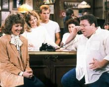 Cheers 8x10 photo Norm Woody Diane & Carla around bar