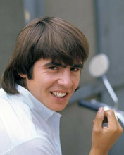 The Monkees Davy Jones smiling portrait in white shirt 8x10 inch photo