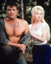 River of No Return bare chested Robert Mitchum Marilyn Monroe 8x10 inch photo
