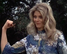 Lindsay Wagner makes a fist as Jamie Sommars The Bionic Woman 8x10 inch photo