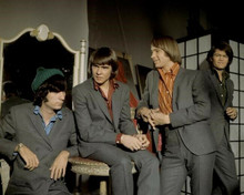 The Monkees TV series Davy Michael Peter & Micky in grey suits on set 8x10 photo