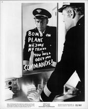 Charlton Heston 1972 8x10 photo Skyjacked in airplane bathroom