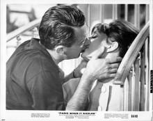 Paris When it Sizzles 8x10 photo William Holden kisses Audrey Hepburn