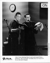 Leonard Nimoy John de Lancie 8x10 photo performing The Lost World