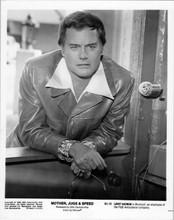 Larry Hagman 1976 8x10 photo in leather jacket Mother Jugs & Speed