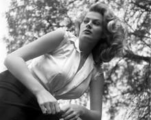 Anita Ekberg in white sleeveless shirt glamour pose 8x10 inch photo