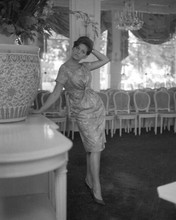 Claudia Cardinale full length pose high heels and summer dress 8x10 inch photo