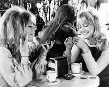 Shampoo 1974 movie Julie Christie Goldie Hawn have coffee 8x10 inch photo