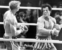 Rocky IV 8x10 inch photo Sylvester Stallone punches Dolph Lundgren