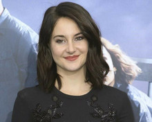 Shailene Woodley smiling candid pose in black dress 8x10 inch photo